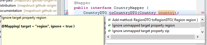 IDE Support – MapStruct