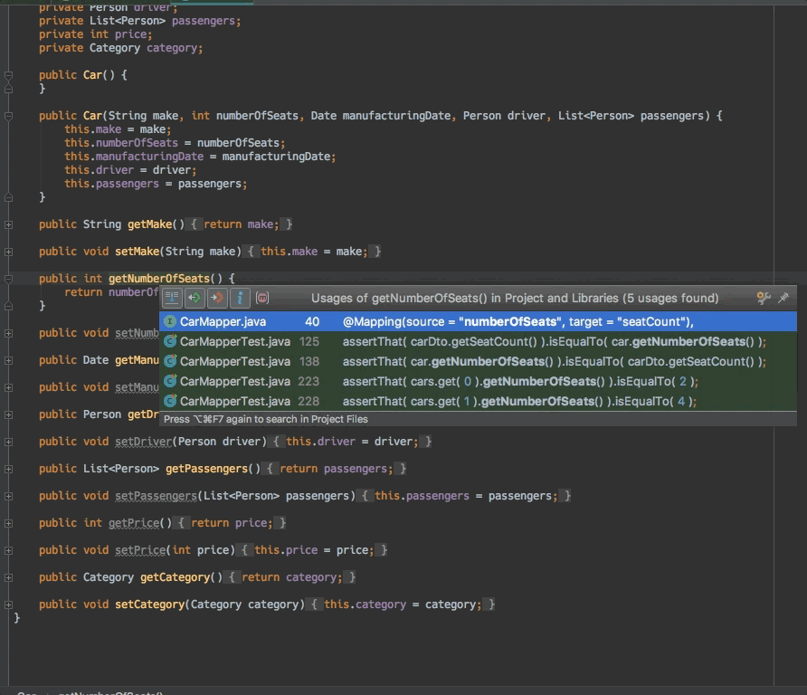 MapStruct support for IntelliJ IDEA – MapStruct